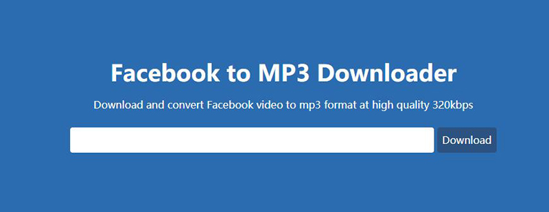 facebook to mp3 downloader