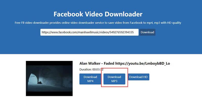 facebook song download