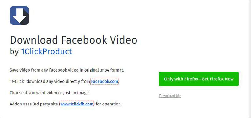 Facebook Video Downloader Firefox